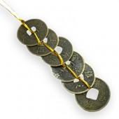 Шестица китайски монети за защита