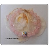 Детска гривна от розов кварц