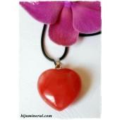 Висулка-сърце от черешов кварц