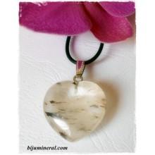 Висулка-сърце от турмалинов кварц