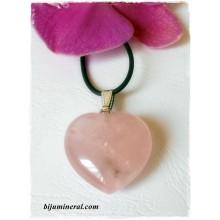 Висулка-сърце от розов кварц