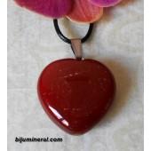 Висулка-сърце от карнеол