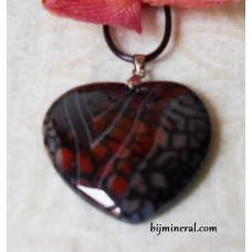 Висулка - сърце от ахат