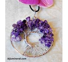 """Медальон """"Дърво на живота""""-аметист"""
