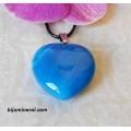 Висулка-сърце от син ахат