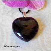 Висулка-сърце от аметист