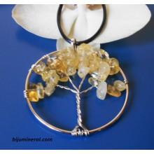 """Медальон """"Дърво на живота""""-цитрин"""