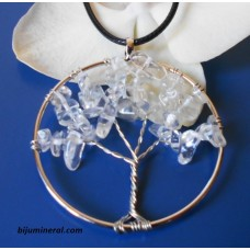 Медальон Дърво на живота - планински кристал