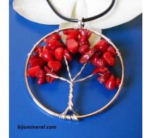 """Медальон """"Дърво на живота""""-корал"""