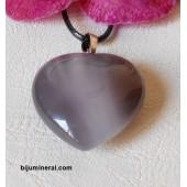 Висулка-сърце от ахат