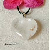 Висулка-сърце от планински кристал